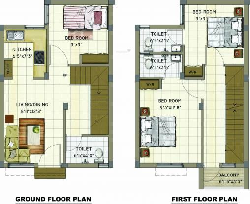 Annai Aaradhana 2 (3BHK+3T (923 sq ft) Villa 923 sq ft)
