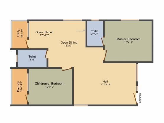 SMR SMR Astra (2BHK+2T (1,110 sq ft) Apartment 1110 sq ft)
