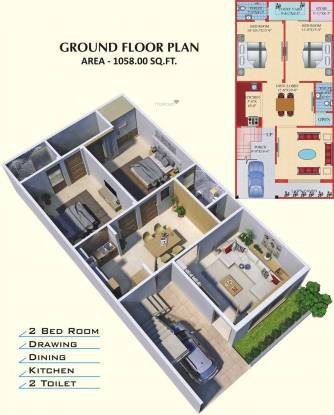 IBIS Zam Enclave (3BHK+3T (1,373 sq ft) Villa 1373 sq ft)