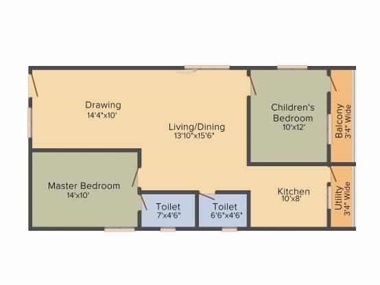 Bhagya Enclave (2BHK+2T (1,150 sq ft) Apartment 1150 sq ft)