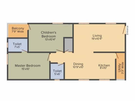 Bhagya Enclave (2BHK+3T (1,170 sq ft) Apartment 1170 sq ft)