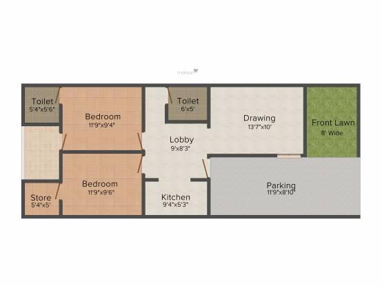 Kiran Enclave Villa (2BHK+2T (1,000 sq ft) Villa 1000 sq ft)