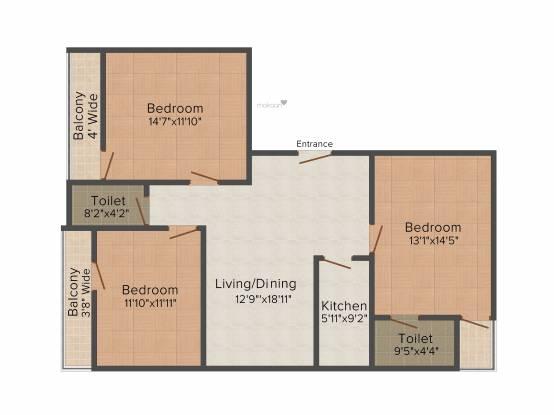 BSM BSM Enclave (3BHK+3T (1,528 sq ft) Apartment 1528 sq ft)