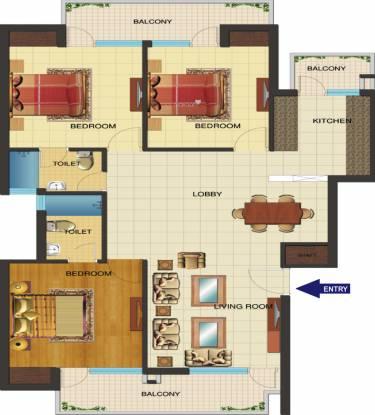 KLJ Nirvana Floors (3BHK+2T (1,550 sq ft) Apartment 1550 sq ft)