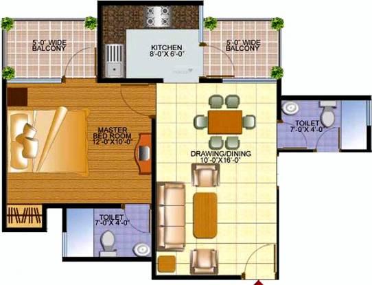 Samadhan Marvelous Residency (1BHK+2T (650 sq ft) Apartment 650 sq ft)