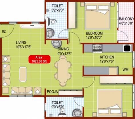 Scion Scion Park Wood (2BHK+2T (1,025 sq ft) Apartment 1025 sq ft)