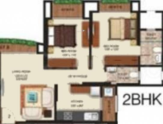 SMGK Associate Woods (2BHK+2T (940 sq ft) Apartment 940 sq ft)