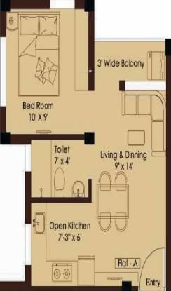 Gajpati Upantika (1BHK+1T (365 sq ft) Apartment 365 sq ft)