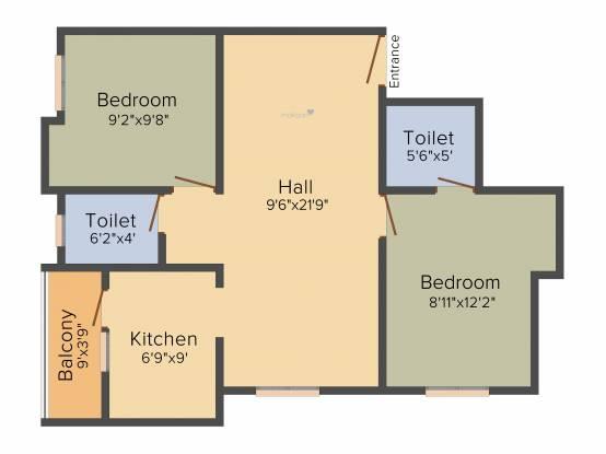 Vishnu Sai Kiruba Flats (2BHK+2T (845 sq ft) Apartment 845 sq ft)