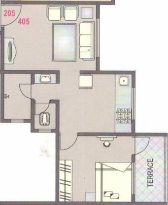 SGL Vishwajeet Residency (1BHK+1T (592 sq ft) Apartment 592 sq ft)