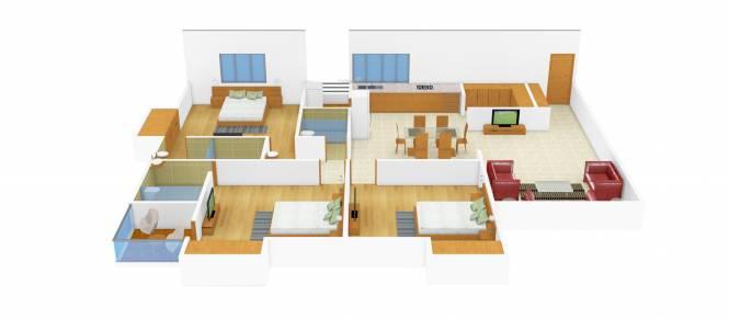 Rajhans Rajhans View (3BHK+3T (1,395 sq ft) Apartment 1395 sq ft)