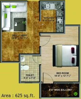 Jai Shree Balaji Infra Sukhdham Residency (1BHK+1T (625 sq ft) Apartment 625 sq ft)