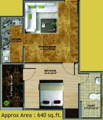 Jai Shree Balaji Infra Sukhdham Residency (1BHK+1T (640 sq ft) Apartment 640 sq ft)