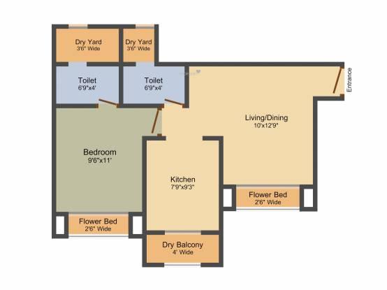 Sadguru Paradise (1BHK+1T (750 sq ft) Apartment 750 sq ft)