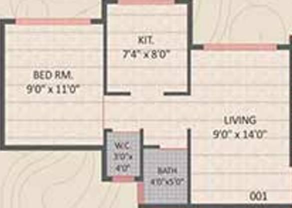 Panvelkar Gardens (1BHK+1T (524 sq ft) Apartment 524 sq ft)