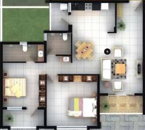 Devashri Greens (2BHK+2T (1,148 sq ft) Apartment 1148 sq ft)