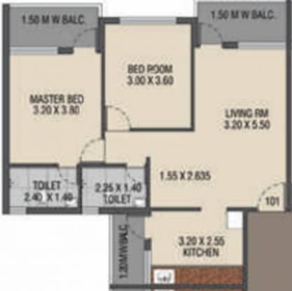 Raj Raj Ryle Residency (2BHK+2T (1,028 sq ft) Apartment 1028 sq ft)