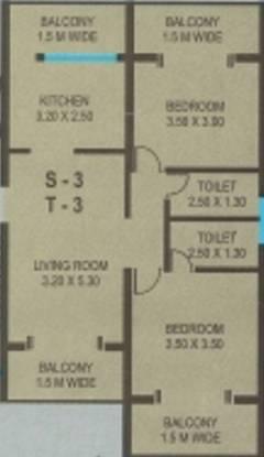 CV Darius Horizon II (2BHK+2T (1,051 sq ft) Apartment 1051 sq ft)