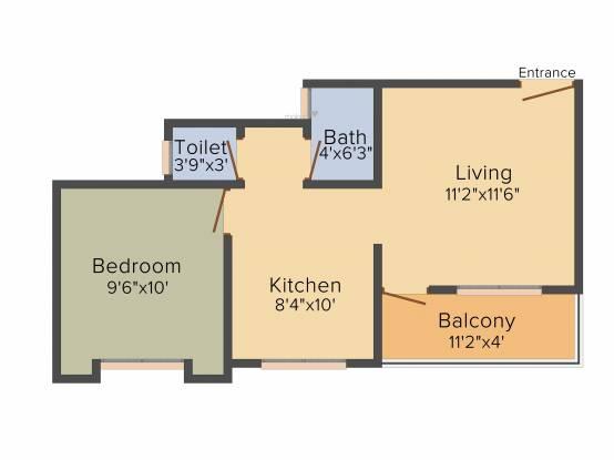 Saikrupa Vishwa Kalyan Nagari (1BHK+1T (540 sq ft) Apartment 540 sq ft)