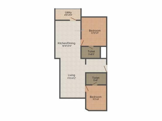 Soundarya Kamakshi (2BHK+2T (1,125 sq ft) Apartment 1125 sq ft)