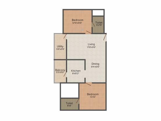 Soundarya Kamakshi (2BHK+2T (1,150 sq ft) Apartment 1150 sq ft)