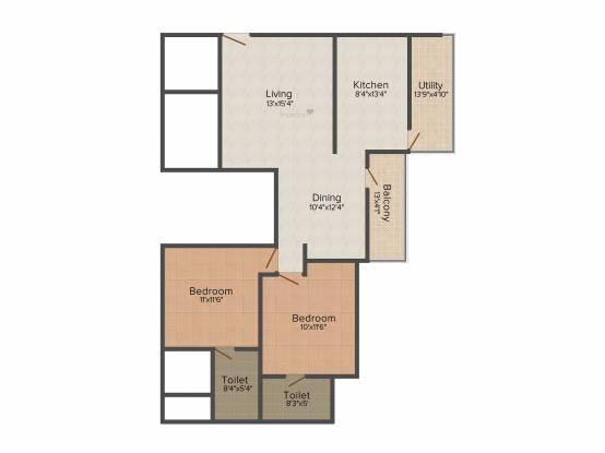 Soundarya Kamakshi (2BHK+2T (1,230 sq ft) Apartment 1230 sq ft)