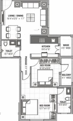Gurumurty Jyoti (2BHK+3T (1,176 sq ft) Apartment 1176 sq ft)