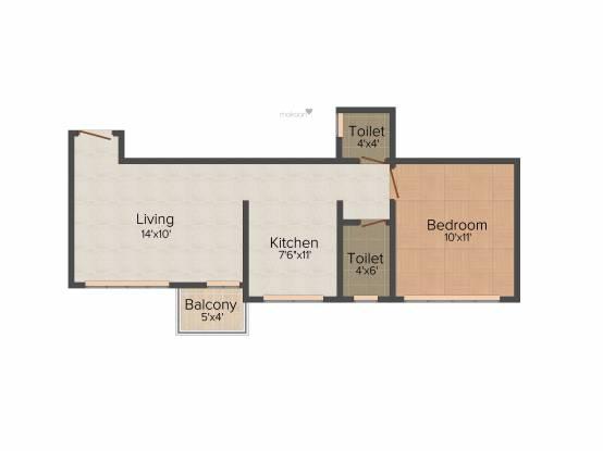 City Godavari Residency (1BHK+1T (578 sq ft) Apartment 578 sq ft)