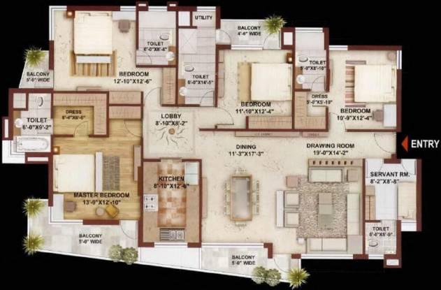 Sunshine Heights (4BHK+4T (2,745 sq ft) + Servant Room Apartment 2745 sq ft)