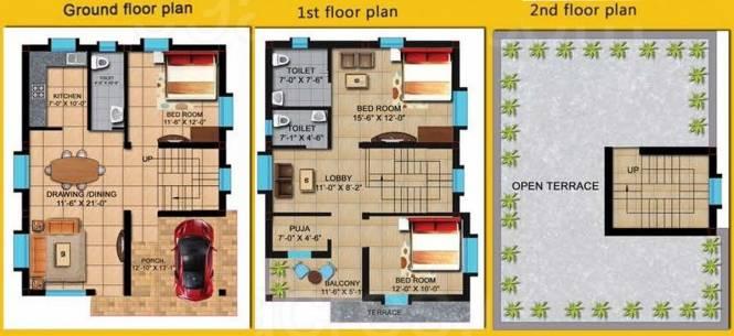 JB Valley (3BHK+3T (1,861 sq ft) + Pooja Room Villa 1861 sq ft)