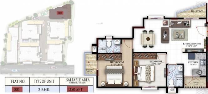 Baldota Luxuria (2BHK+2T (1,250 sq ft) Apartment 1250 sq ft)