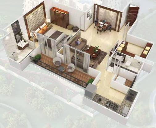 Signature The Serenas (1BHK+1T (481 sq ft) Apartment 481 sq ft)