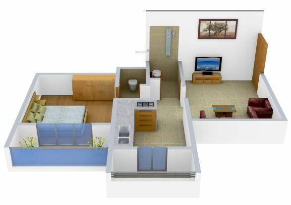 Sagar Platinum Sagar Jewels (1BHK+1T (645 sq ft) Apartment 645 sq ft)