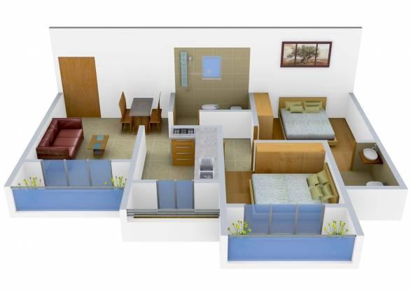 Sagar Platinum Sagar Jewels (2BHK+2T (805 sq ft) Apartment 805 sq ft)