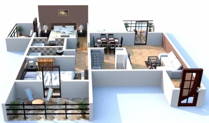 Dorabjee Classic (2BHK+2T (1,150 sq ft) Apartment 1150 sq ft)