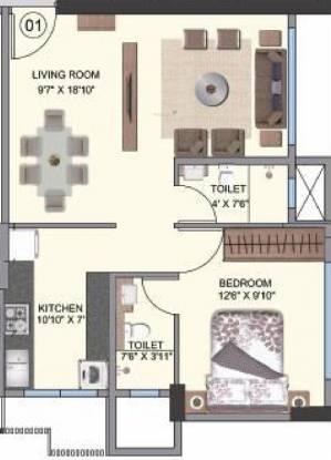 Shree Naman Premier (1BHK+1T (499 sq ft) Apartment 499 sq ft)