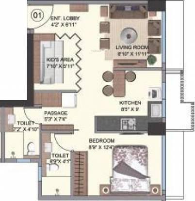 Shree Naman Premier (2BHK+2T (484 sq ft) Apartment 484 sq ft)