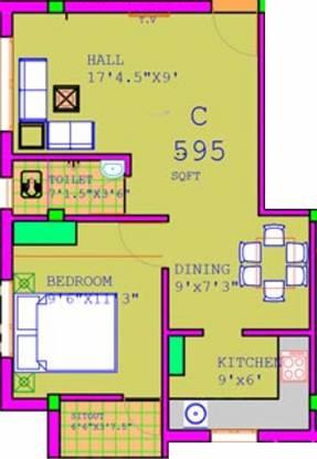 Annai Annai Livade (1BHK+1T (595 sq ft) Apartment 595 sq ft)