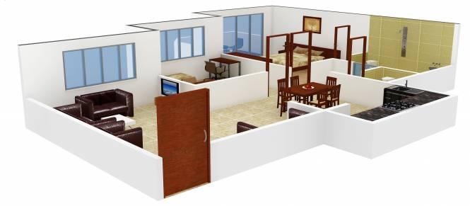 Atul Alcove (1BHK+2T (760 sq ft) + Study Room Apartment 760 sq ft)