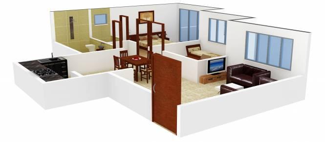 Atul Alcove (1BHK+2T (773 sq ft) + Study Room Apartment 773 sq ft)