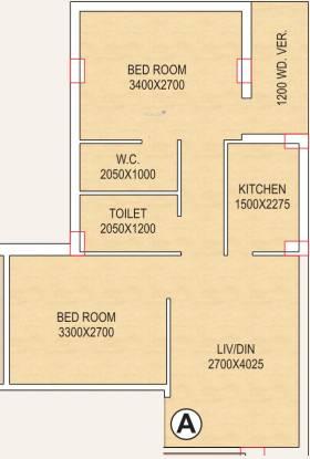 Tirath Devi Apartment (2BHK+2T (713 sq ft) Apartment 713 sq ft)