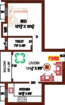 Prabha Baskar (1BHK+1T (553 sq ft) Apartment 553 sq ft)