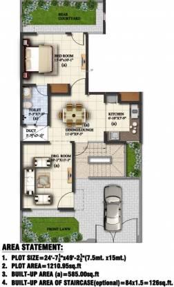 Eldeco Regalia Villa (1BHK+1T (585 sq ft) Villa 585 sq ft)