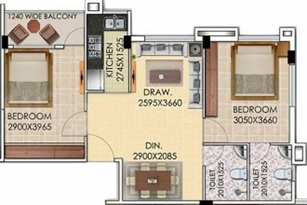 Gayatri Brij Dham (2BHK+2T (777 sq ft) Apartment 777 sq ft)