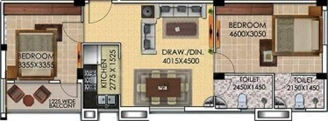 Gayatri Brij Dham (2BHK+2T (829 sq ft) Apartment 829 sq ft)