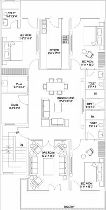 Reputed Sushant Lok 3 (3BHK+3T (1,800 sq ft)   Study Room Apartment 0 sq ft)