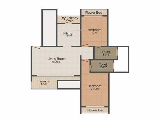 RNA NG Grand Plaza Phase I (2BHK+2T (538 sq ft) Apartment 538 sq ft)