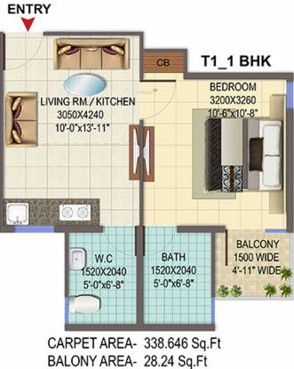 Signature Solera 2 (1BHK+1T (366 sq ft) Apartment 366 sq ft)