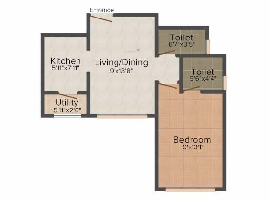 Srishti Elegance (1BHK+1T (372 sq ft) Apartment 372 sq ft)