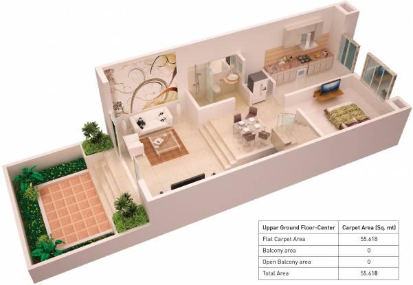 Puraniks Sayama Phase 2 (3BHK+3T (1,190 sq ft) Villa 1190 sq ft)